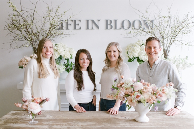 Team of Chicago Wedding Florist 'Life in Bloom'