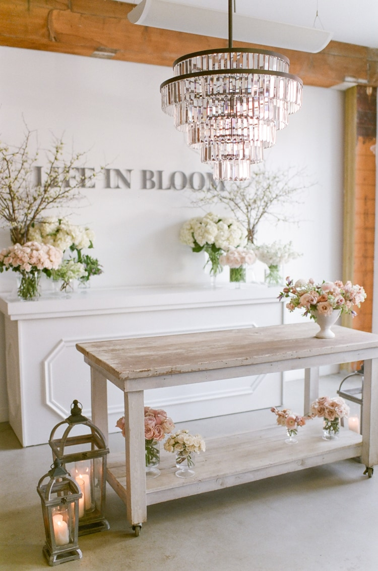 Studio of Chicago Wedding Florist 'Life in Bloom' in Chicago downtown