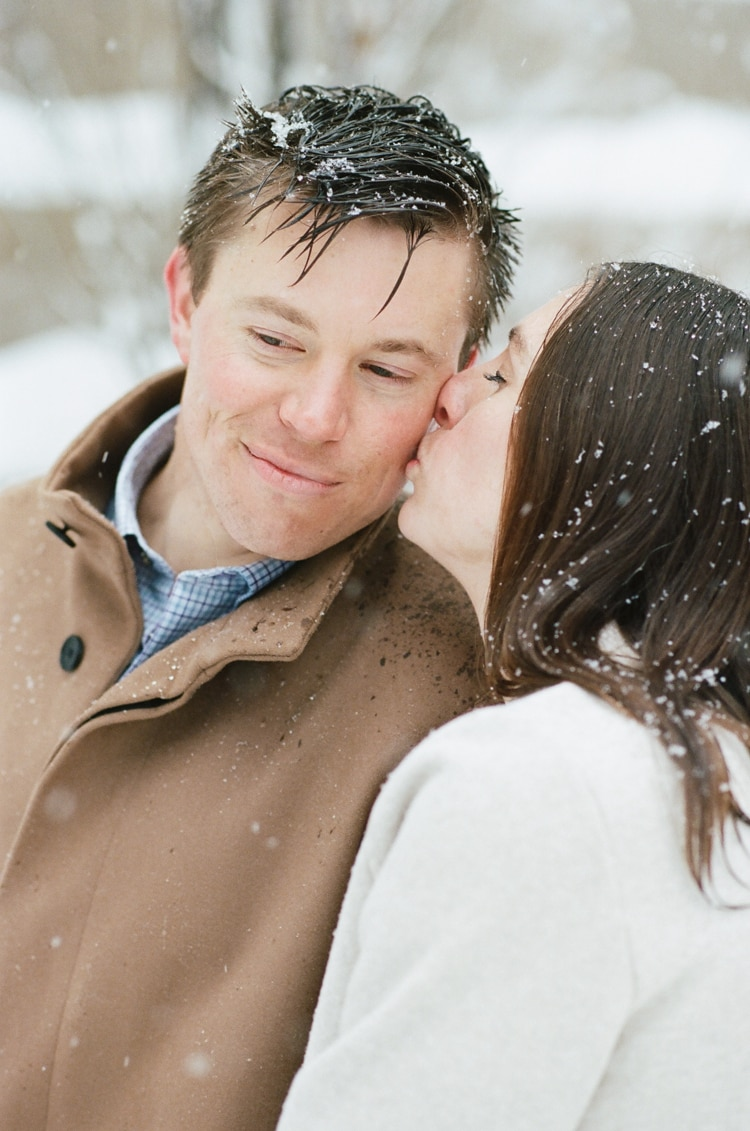 Chicago winter engagement photographer