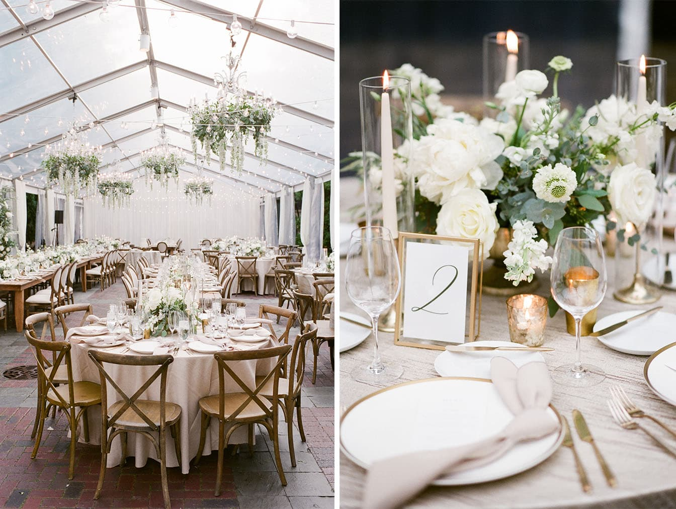 White and green wedding decor florals at Chicago Illuminating Company