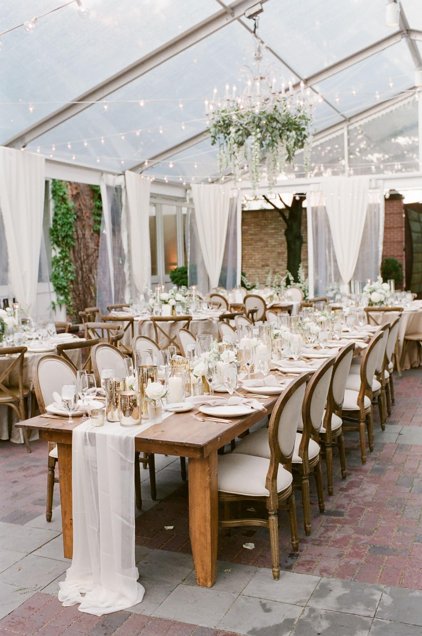 Tent wedding at Chicago Illuminating Company