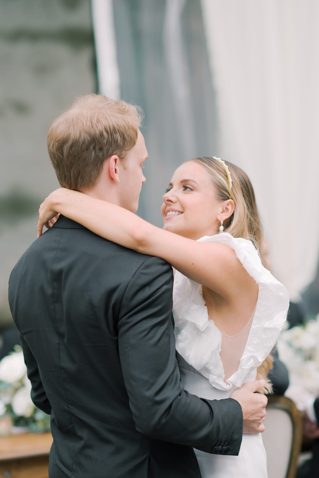 First dance of bride and groom at Chicago Illuminating Company