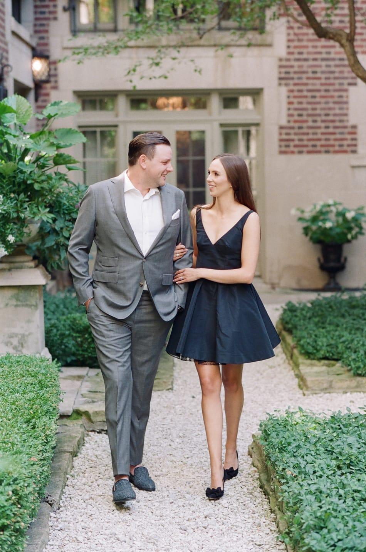 Bride and groom walking towards Tamara Gruner Photographer in Chicago