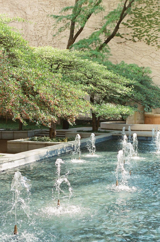 Water fountain at Chicago Art Institute South Garden