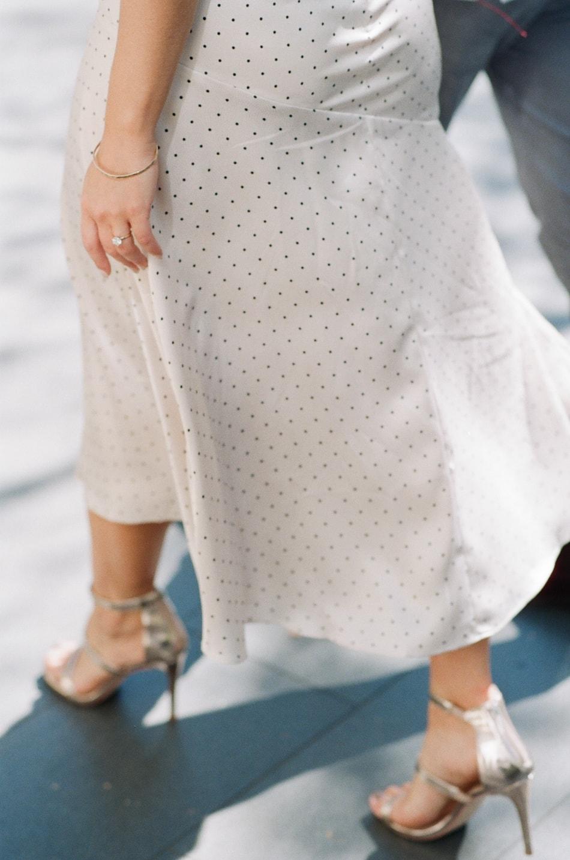 Closeup of a Chicago bride's shoes
